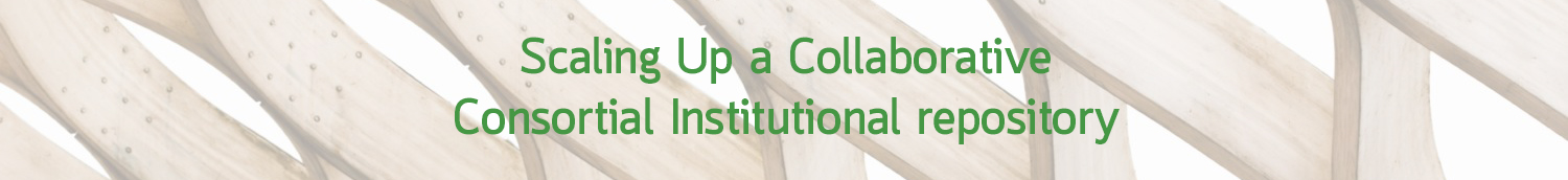 Scaling Up a Collaborative Consortial Institutional Repository